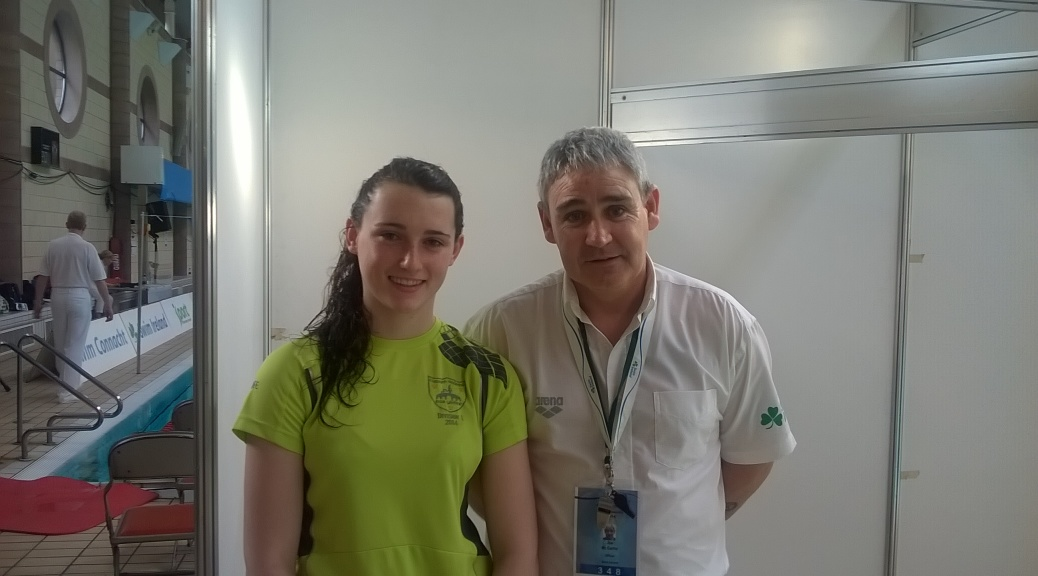 Askeaton Swimming Club Representatives Aoife Duggan McSweeney & Gala Referee Joe McCarthy