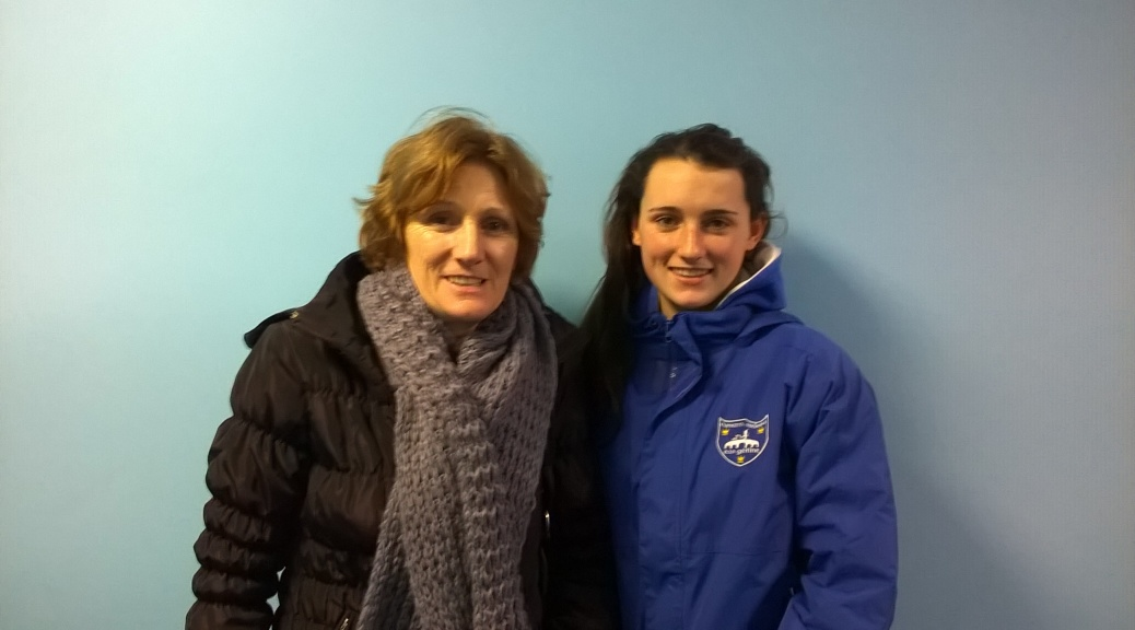 Proud Mum Madonna Duggan and daughter Aoife Duggan McSweeney - Irish SC Championships 2014
